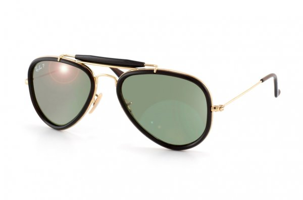 Очки Ray-Ban Outdoorsman Road Spirit RB3428-001-M4 Arista/Black | Polarized Green GSM