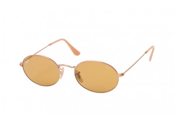 Очки Ray-Ban Oval Evolve Flat Lenses RB3547N-9131-4I Dark Arista | Natural Brown Photocromic