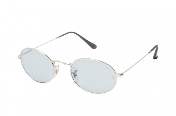 Очки Ray-Ban Oval-Evolve RB3547-003-T3 Silver | Light Blue