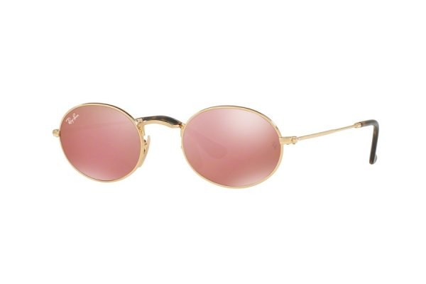 Очки Ray-Ban Oval Flat Lenses RB3547N-001-Z2 Arista | Pink Mirror