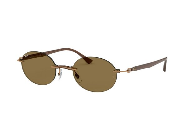 Очки Ray-Ban Oval LightRay RB8060-155-73 Dark Brown | Dark Brown