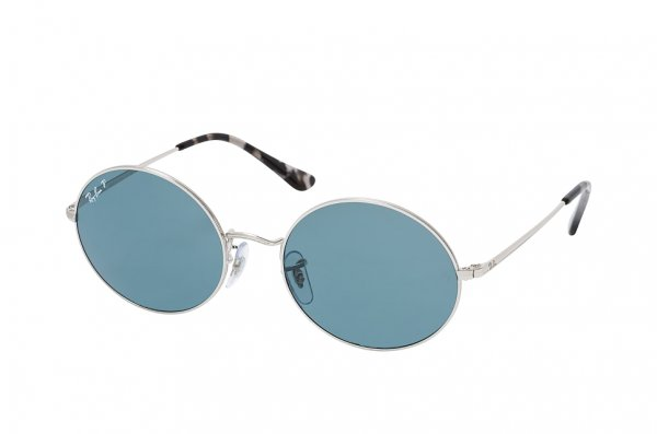 Очки Ray-Ban Oval RB1970-9149-S2 Silver | Blue Polarized