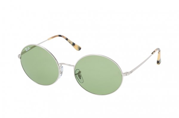 Очки Ray-Ban Oval RB1970-9197-4E Silver | Natural Light Green