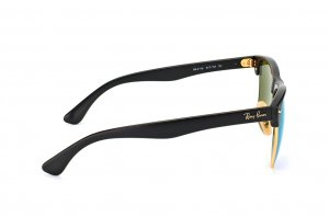 Очки Ray-Ban Oversized Clubmaster RB4175-877-1M Matte Black/ Arista | Violet Mirror