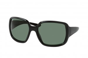 Очки Ray-Ban Powderhorn RB4347-601-71 Black | Natural Green