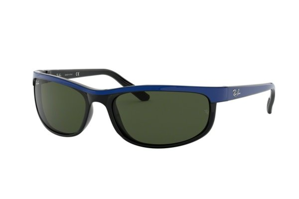 Очки Ray-Ban Predator 2 RB2027-6301 Black / Blue | Natural Green