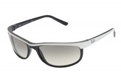 Очки Ray-Ban Predator 2 RB2027-770-32 Black/White Relief Bar/ GRADIENT grey