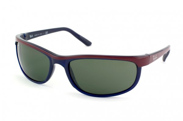 Очки Ray-Ban Predator 2 RB2027-788 Blue/ Bordeaux Relief Bar | Natural Green (G-15 XLT)