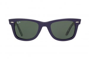 Очки Ray-Ban Rare Prints Wayfarer RB2140-1020 Violet/Orange-Blue-Green-Violet Prints/Natural Green (G-15XLT)