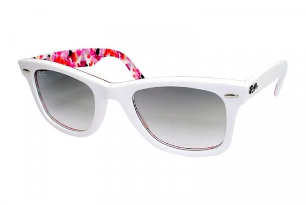 Очки Ray-Ban Rare Prints Wayfarer RB2140-1022-32 White on Color Prits | Gradient Grey