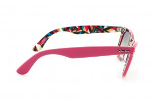 Очки Ray-Ban Rare Prints Wayfarer RB2140-1038-32 Pink / Multi Colour | Gradient Grey