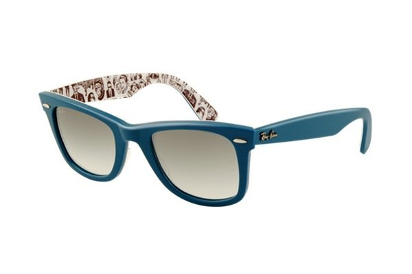 Очки Ray-Ban Rare Prints Wayfarer RB2140-1044-32 Blue/ Prints | Gradient Grey