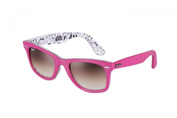 Очки Ray-Ban Rare Prints Wayfarer RB2140-1045-51 Pink/ Prints | Gradient Brown