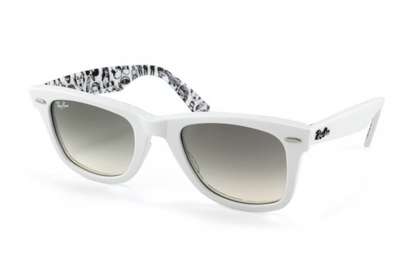 Очки Ray-Ban Rare Prints Wayfarer RB2140-1048-32 White/White Faces/Grey Gradient
