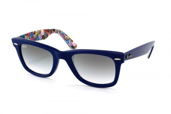 Очки Ray-Ban Rare Prints Wayfarer RB2140-1053-32 Blue on Print Smile | Gradient Grey