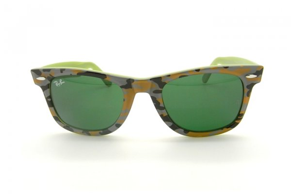 Очки Ray-Ban Rare Prints Wayfarer RB2140-957 Military Beige  Light Green| Natural Green ( G-15 XLT)