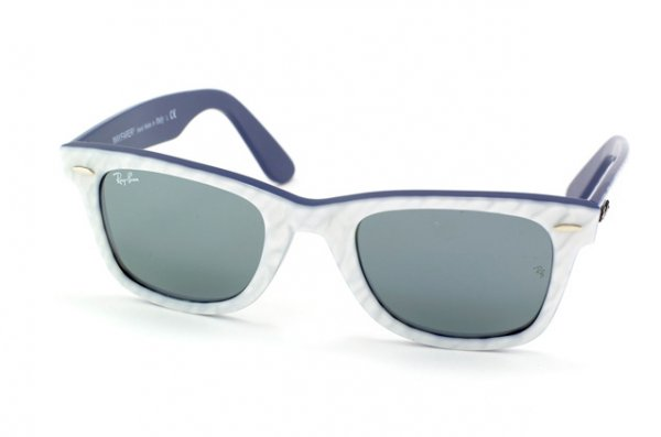 Очки Ray-Ban Rare Prints Wayfarer RB2140-994-40 White /Blue | Mirror (G-31)