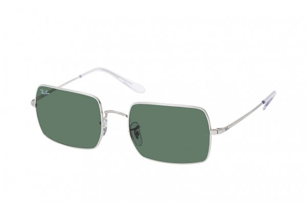 Очки Ray-Ban Rectangle RB1969-9149-31 Silver | Natural Green