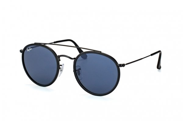 Очки Ray-Ban Round Double Bridge RB3647N-002-R5 Black | Dark Blue