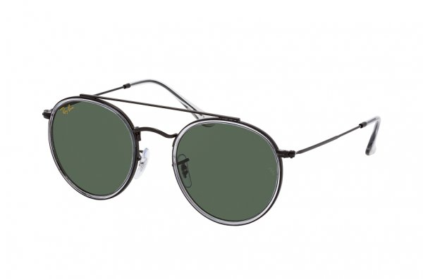 Очки Ray-Ban Round Double Bridge RB3647N-9212-31 Black | Natural Green
