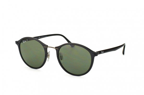 Очки Ray-Ban Round II LightRay RB4242-601S-9A Black| APX Grey/Green Polarized