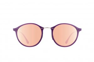 Очки Ray-Ban Round II LightRay RB4242-6034-2Y Violet | APX Light Pink Mirror