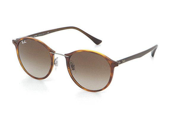 Очки Ray-Ban Round II LightRay RB4242-6201-13 Brown| APX Brown Gradient