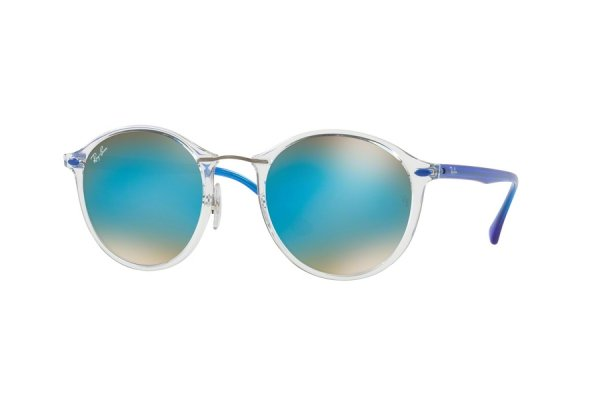 Очки Ray-Ban Round II LightRay RB4242-6289-B7 Transparent White / Blue | Gradient Blue