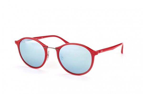 Очки Ray-Ban Round II LightRay RB4242-764-30 Red | Light Blue Mirror