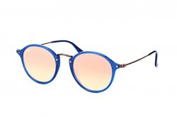 Очки Ray-Ban Round Icons Flat Lenses RB2447N-6254-7O Blue/Gunmetal | Mirror Faded Brown