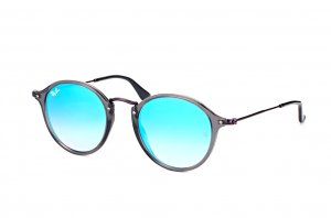 Очки Ray-Ban Round Icons Flat Lenses RB2447N-6255-4O Grey| Blue Gradient Mirror