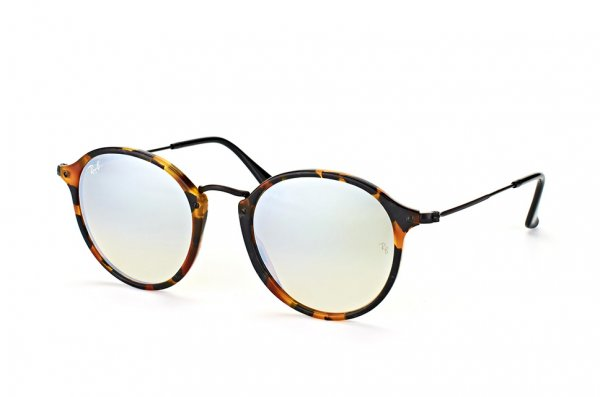 Очки Ray-Ban Round Icons Fleck Flash Lenses RB2447-1157-9U Havana/Black | Mirror Blue Yellow