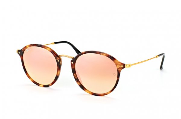 Очки Ray-Ban Round Icons Fleck Flash Lenses RB2447-1160-7O Havana/Matt Arista| Mirror Faded Brown