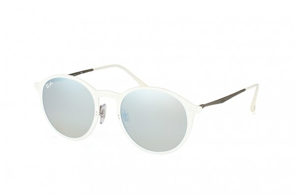 Очки Ray-Ban Round LightRay RB4224-671-B8 White | Brown Gradient / Silver Mirror