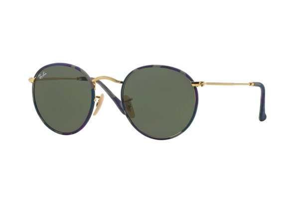 Очки Ray-Ban Round Metal Camouflage RB3447JM-172 Arista/Dark Camouflage |  Natural Green