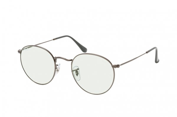 Очки Ray-Ban Round Metal Evolve RB3447-004-T1 Gunmetal | Light Green