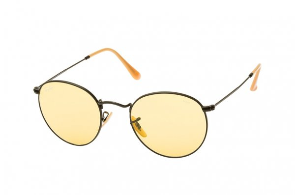 Очки Ray-Ban Round Metal Evolve RB3447-9066-4A Black | Yellow Photocromic