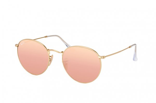 Очки Ray-Ban Round Metal Flat Lenses RB3447N-001-Z2 Arista | Pink Mirror