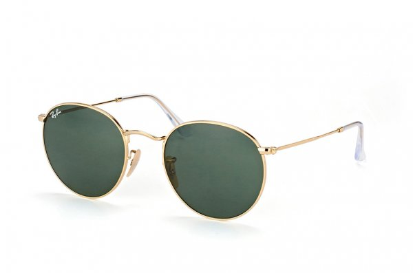 Очки Ray-Ban Round Metal Flat Lenses RB3447N-001 Arista | Natural Green (G-15XLT)