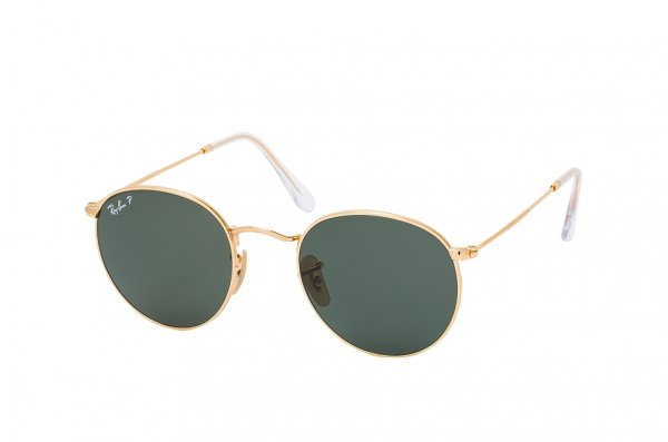 Очки Ray-Ban Round Metal RB3447-001-58 Arista | Natural Green Polarized