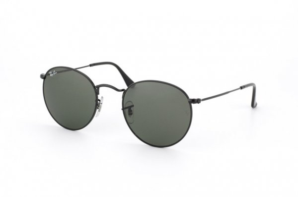 Очки Ray-Ban Round Metal RB3447-002 Black/Natural Green (G-15XLT)