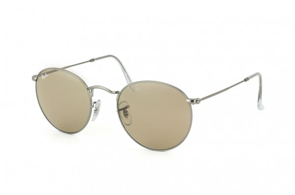 Очки Ray-Ban Round Metal RB3447-029-53 Matte Gunmetal | Brown