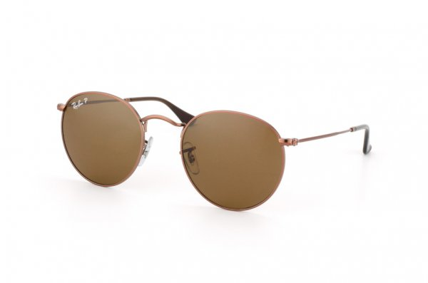 Очки Ray-Ban Round Metal RB3447-101-57 Arista | Natural Brown Polarized