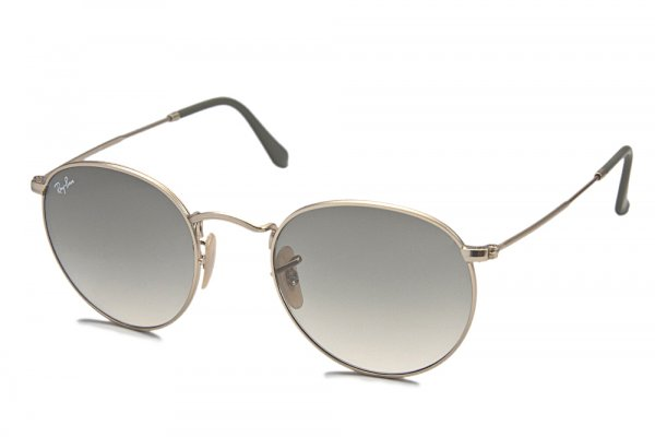 Очки Ray-Ban Round Metal RB3447-112-32 Matte Gold | Gradient Grey