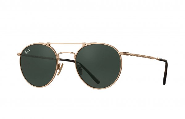 Очки Ray-Ban Round Titanium RB8147M-9143 Antique Gold | Natural Green