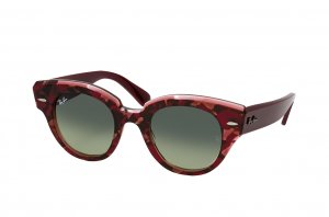 Очки Ray-Ban Roundabout RB2192-1323-BH Pink Havana | Green Gradient