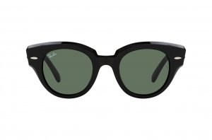 Очки Ray-Ban Roundabout RB2192-901-31 Black | Natural Green
