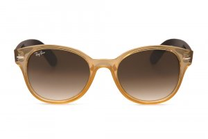 Очки Ray-Ban Rounded Wayfarer RB4141-768-51 Honey/Faded Brown