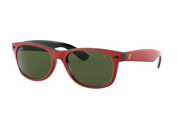 Очки Ray-Ban Scuderia Ferrari Collection RB2132M-F639-31 Red | Natural Green (G-15XLT)