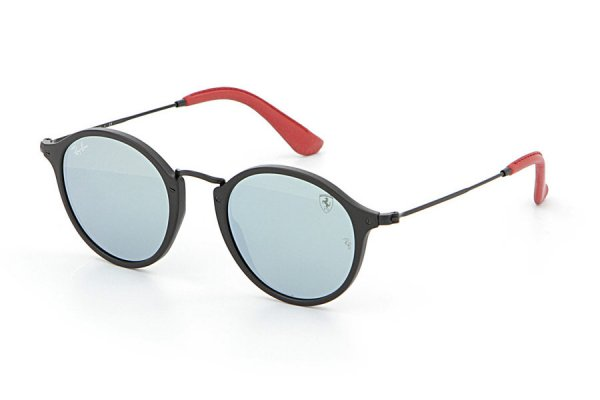 Очки Ray-Ban Scuderia Ferrari Collection RB2447NM-F602-30 Black / Red | Crystal Silver Mirror